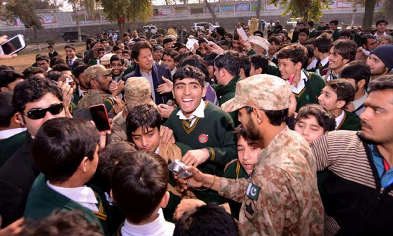 Imran Khan not so welcome in APS Peshawar