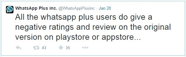 "<img src=""http://www.thenextrex.com/wp-content/uploads/2015/01/whatsApp-plus-twitted-requesting-its-users-to-give-negative-rating-and-feedback-on-original-version-of-whatsapp-play-store-and-app-store.jpg"" alt=""whatsApp plus twitted requesting its users to give negative rating and feedback on original version of whatsapp play store and app store"">"