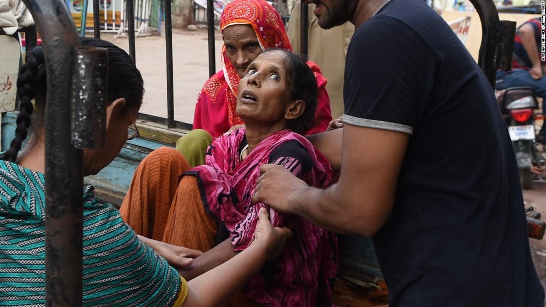 Woman struck by heat wave