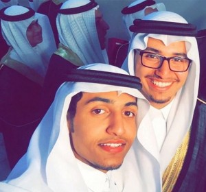 Graduation pic of Muhammad Hassan Ali ibn Isa with a friend