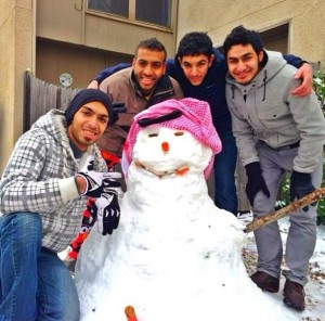 Our hero in USA with friends. He was popular in his friends and loved by all.