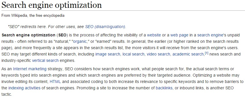 On-Page SEO Practice A Blogger Should Adopt - Interlinks like wikipedia
