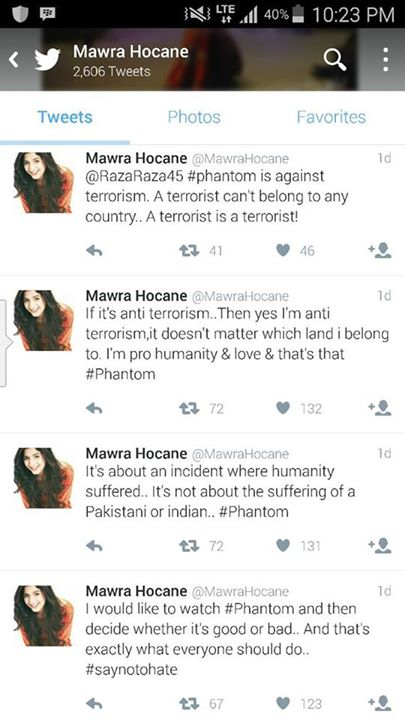 Mawra Hocane on phantom