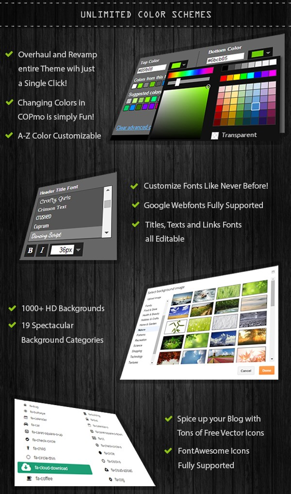 COPmo Blogger Template Developed by STC Network colours