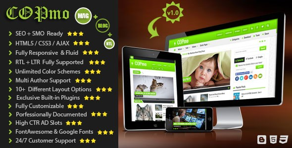 COPmo Blogger Template Developed by STC Network - overview