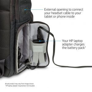 hp powerup backpack socket