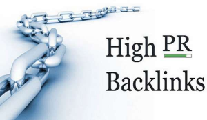 what is high PR backlinks