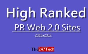 best web 2.0 high PR sites