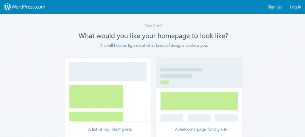 Select your design for wordpress site