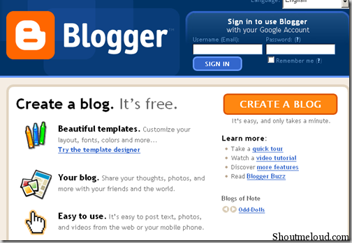 How to create a free blogs on blogspot