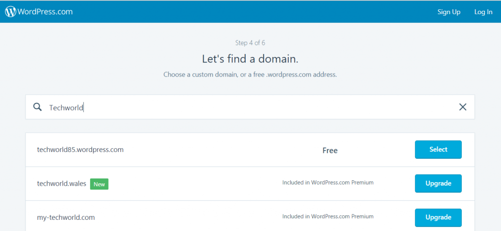 find a good domain name - create a blog on wordpress