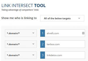 Ahrefs link intersect