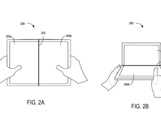 microsoft's folding device