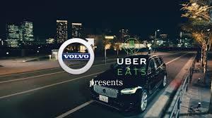 uberEats Volvo Tokyo