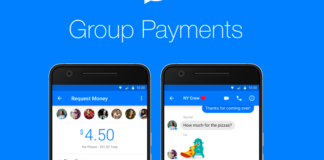 group payments via facebook messenger