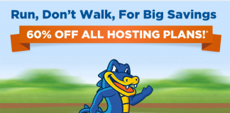 Hostgator 60% Coupon – Now save 60% off all new Hostgator hosting package