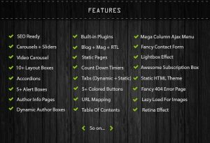 features of COPmo Blogger Template Developed by STC Network