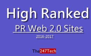 best web 2.0 high PR sites