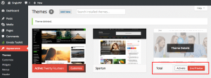 Installing WordPress theme - testing and activating