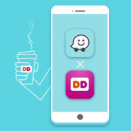 order dukin donuts with waze