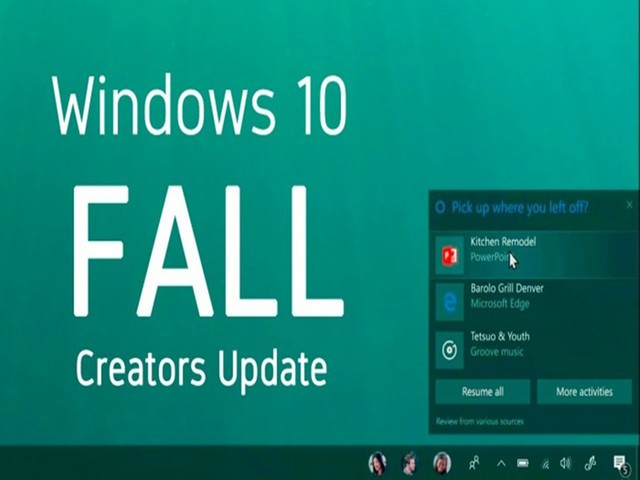 new Windows creators update