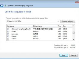 windows 10 language pack
