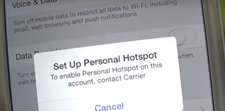 to setup personal hotspot on your account contact carrier - iPhone -lycamobile Australis