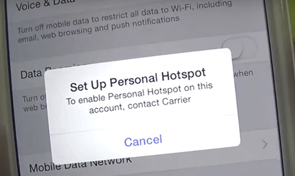 simple mobile hotspot hack iphone