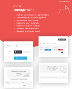 Class Management - School Management system