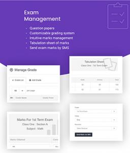 Exam Management - School Management system