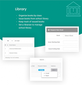 Library Management - School Management system