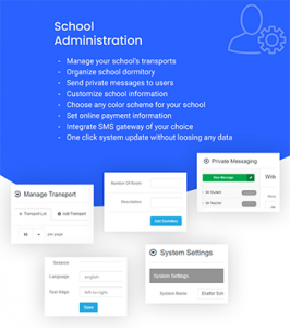 School Administration - School Management system