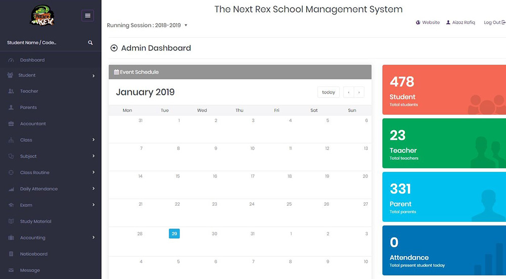 TNR - School Management system